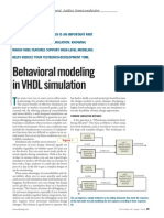 Behavioral Modeling in VHDL Simulation Gary Peyrot Article