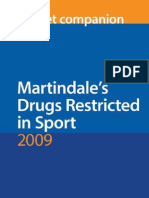 Martindale's Drugs Restricted in Sport