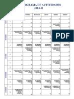 Cronograma de Actividades 2013-2