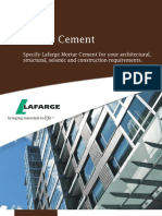 Mortar Cement Brochure