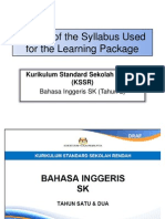 Extract of Syllabus