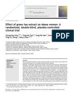 Effect of Green Tea Extract on Obese Women A