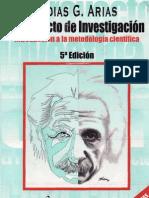 Fidias Arias. El Proyecto de Investigacion