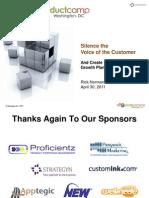 Rick Norman - pCamp DC April 2011 - Silence the VOC - Growth Plans That Work