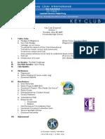 Divisional Agenda 052809