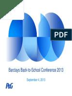 PG P&G Procter Gamble Sept 2013 Investor Slide Deck Powerpoint PPT PDF