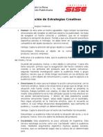 Clasificacion de Estrategias Creativas