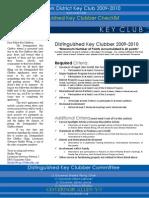 DKC Early Checklist