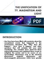 The Unification of Electricity, Magnetism and Light