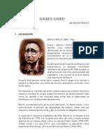 Análisis de la Obra teatral - Galileo Galilei