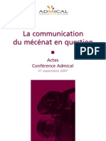 Actes Colloque Admical Communication Du Mecenat(1)