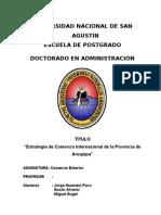 Trabajo de Comercio Exterior 2013