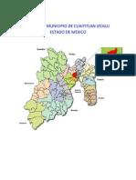 Mapa Del Municipio de Cuaititlan Izcalli Estado de Mexico