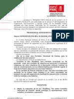 Preguntas Pleno, A Quien Representa Alcaldesa Reunion Festeros 2014