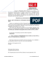 Preguntas Pleno, Falta Respuesta Secretaria IMPAGADOS de 2011 a 2012