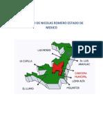 Municipio de Nicolas Romero Estado de Mexico