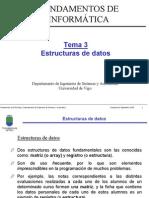 Tema 3 Estructuras de Datos