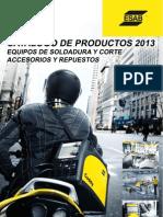 Catalogo de Productos 2013  Español