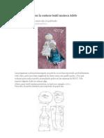 Clase magistral en la costura textil muñeca Adele