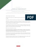 Discurso Michelle Bachelet por los 40 años del golpe de Estado
