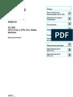 s7300 Cpu 31xc and Cpu 31x Manual Es ES Es-ES