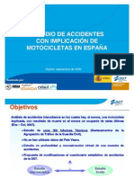Estudio de accidentes con implicacion de motocicletas en España