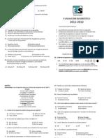 Evaluacion diagnostica 2011-2012