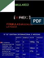 FORMULARIO DE FISICA