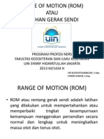 Flip Chart Range of Motion (Rom)