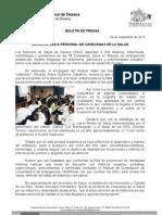06/09/13 Germán Tenorio Vasconcelos capacita Sso a Trabajadores de Caravanas de La Salud