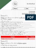 3. Les Formes de Phrases CE2
