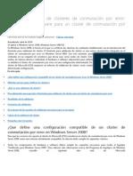 Infromacion Sobre Cluster Windows Server 2008