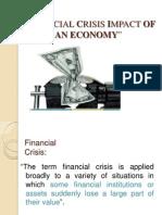 Financial Crisis Impact on Indian Economy