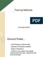 Day 12 Training Methods