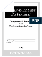 Caderno de 86 páginas para o congresso 2013