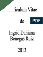 CV - Ingrid Benegas