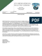 Football Press Release