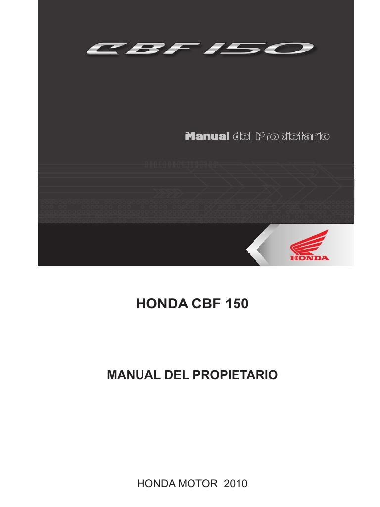 manual de servicio honda cbf 150 pdf