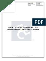Anexo de Responsabilidad Civil Extracontractual Para El Hogar