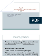 Ps335 Democratization and the State of Democracy in Africa