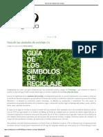 Guía de los símbolos del reciclaje
