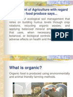 a presentation on Organic Foods