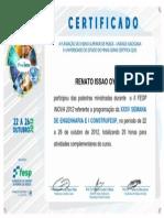 Certificado Fesp INOVA