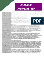 G.O.E.E. Newsletter