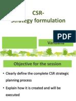 CSR Strategy Formulation