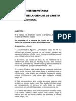 Cuestiones Disputadas Ciencia de Cristo - S. Buenaventura