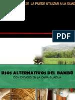Usos alternativos del Bambú