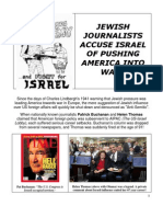 Well Known Jewish Writers Who Say USA Fights Wars for Israel
