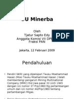 Seminar UU Minerba-Komisi7