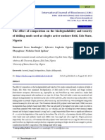 The  effect of composition on the biodegradability and toxicity  of drilling muds used at ologbo active onshore field,  Edo  State, Nigeria